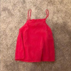 Pink/red tank top (slightly worn)